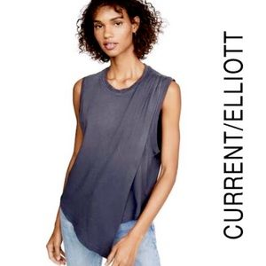 NWT Current/Elliott • Night Out Distressed Tank S